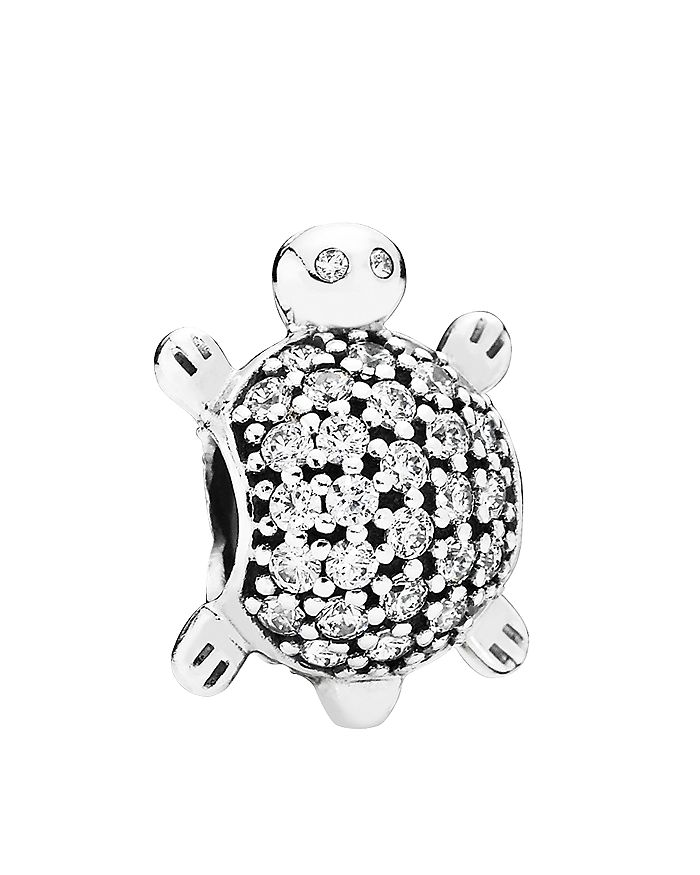 557694b14e7eb Moments Collection Sterling Silver & Cubic Zirconia Sea Turtle Charm