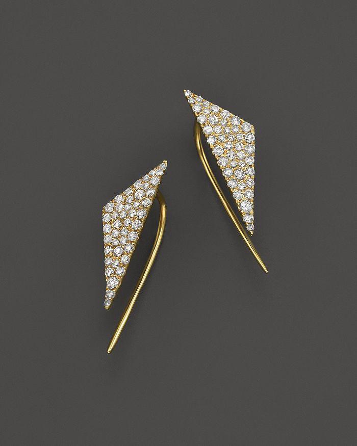Meira T - 14K Yellow Gold Diamond Triangle Ear Cuffs