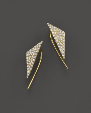 Meira T 14K Yellow Gold Diamond Triangle Ear Cuffs