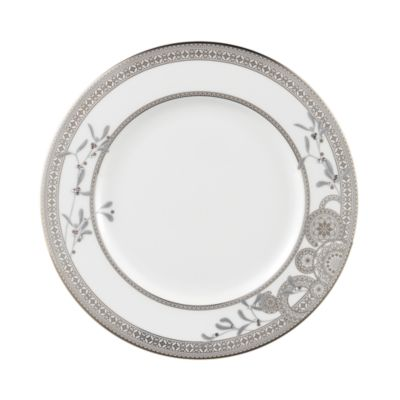 Platinum Leaves Dinner Plate