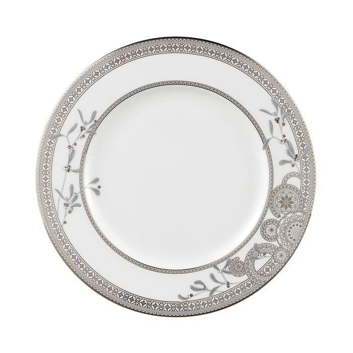 Prouna - Platinum Leaves Dinner Plate