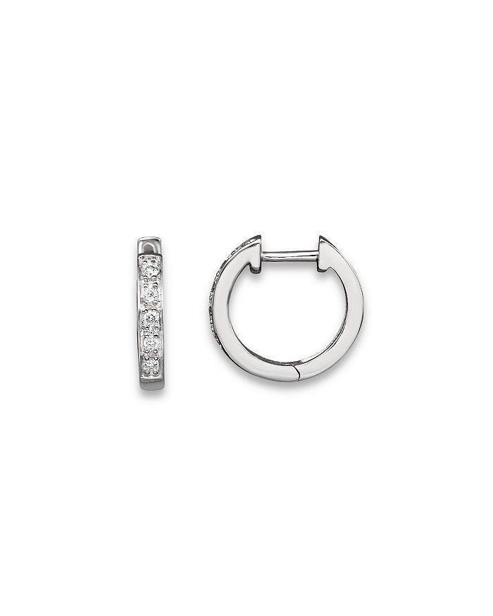 KC Designs - Diamond Mini Hoops in 14K White Gold, .10 ct. t.w.
