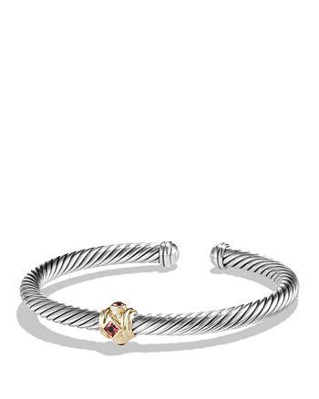 David Yurman - Renaissance Bracelet with Pink Tourmaline, Rhodalite Garnet and 14K Gold