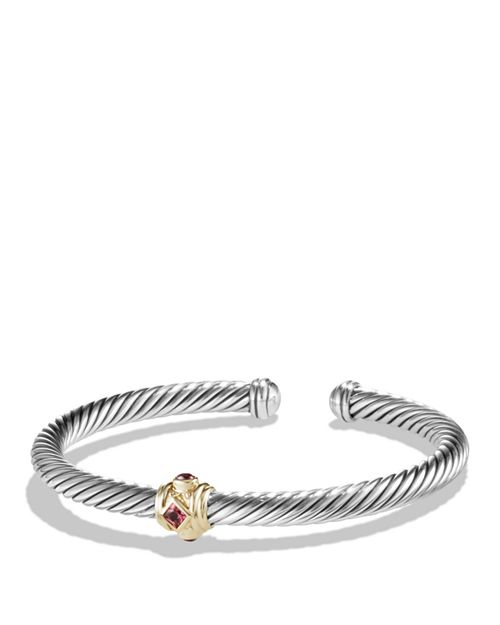 David Yurman - Renaissance Bracelet with Pink Tourmaline, Rhodalite Garnet and 14K Gold