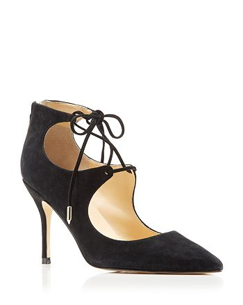 IVANKA TRUMP - Bloomingdale's Exclusive Deenal Lace Up Pointed Pumps