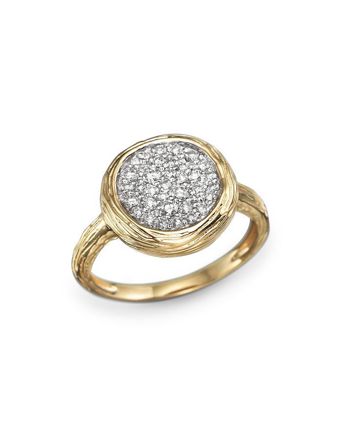 Bloomingdale's - Diamond Circle Statement Ring in 14K Yellow Gold, .40 ct. t.w.- 100% Exclusive