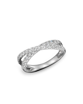 Bloomingdale's - Diamond Crossover Band Ring in 14K White Gold, .75 ct. t.w. - 100% Exclusive