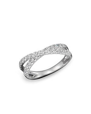 Diamond Crossover Band Ring in 14K White Gold, .75 ct. t.w. - 100% Exclusive
