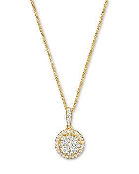 Bloomingdale's - Diamond Cluster Pendant Necklace in 14K Yellow Gold, 0.55 ct. t.w. - 100% Exclusive