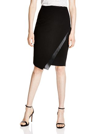 1c40d46525 Bailey 44 Meryl Faux Leather-Trimmed Pencil Skirt | Bloomingdale's