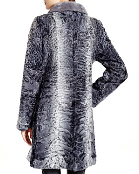 Maximilian Furs - Lamb Coat with Mink Collar