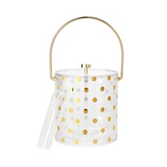 kate spade new york Raise A Glass Acrylic Ice Bucket, Gold Dots - Bloomingdale's_0
