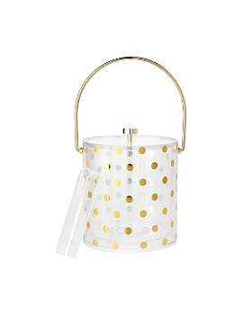 kate spade new york - Raise A Glass Acrylic Ice Bucket, Gold Dots