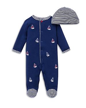 Little Me Boys\\\' Sailboats Footie & Hat Set - Baby-Kids