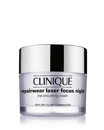 Clinique - Repairwear Laser Focus Night Line Smoothing Cream, Very Dry to Dry Combination