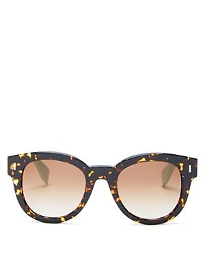 Fendi Two-Tone Round Sunglasses, 50mm