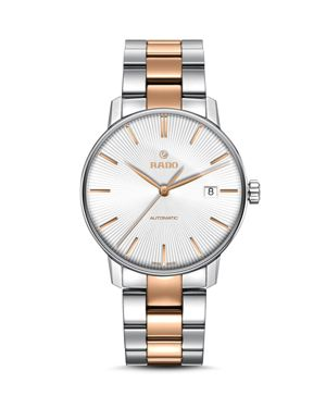 COUPOLE CLASSIC AUTOMATIC STAINLESS STEEL & ROSE GOLD CERAMOS WATCH, 38MM