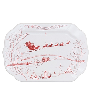 Juliska Country Estate Winter Frolic Ruby Gift Tray, Joy To The World-Home