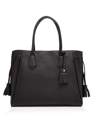 Longchamp Penelope Leather Shoulder Tote Bloomingdale S