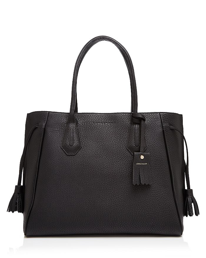 Longchamp - Penelope Leather Shoulder Tote