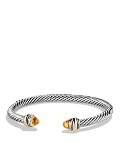 David Yurman - Cable Classics Bracelet with Citrine and Gold