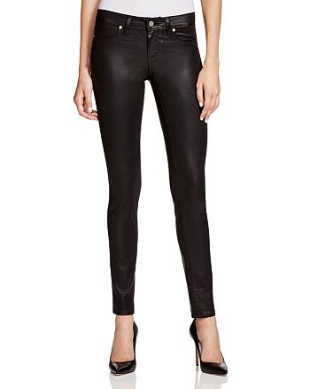 PAIGE - Verdugo Coated Jeans in Black Silk