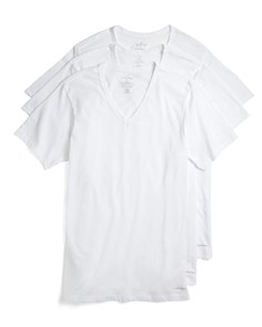 Calvin Klein Cotton Classics Slim Fit V-Neck Tees, Pack of 3 - Bloomingdale's_0