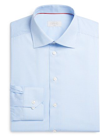 Eton - Gingham Check Slim Fit Dress Shirt