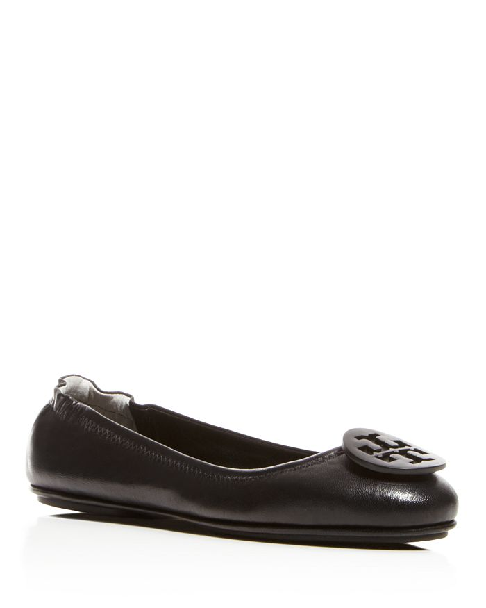 2bbf43b52f7a15 Tory Burch Women s Minnie Leather Travel Ballet Flats