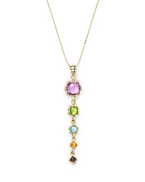 Gemstone Pendant Necklace in 14K Yellow Gold, 18 - 100% Exclusive
