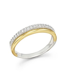 Bloomingdale's - Diamond Double Row Band Ring in 14K Yellow and White Gold, .12 ct .t.w. - 100% Exclusive