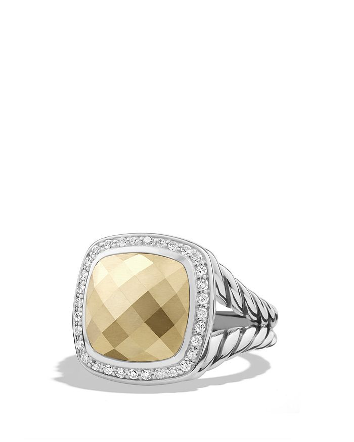 David Yurman - Albion Ring with Gold Dome and Diamonds with 18K Gold
