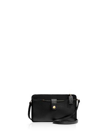 COACH - Messenger with Pop-Up Pouch in Pebble Leather
