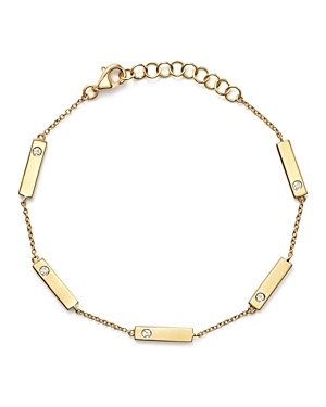 Diamond Bar Station Bracelet in 14K Yellow Gold, .10 ct. t.w. - 100% Exclusive