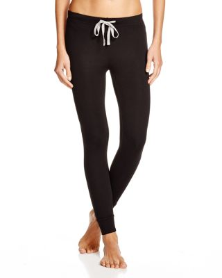HONEYDEW INTIMATES Kickin' It French Terry Lounge Pants in Black