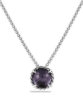 David Yurman - Châtelaine® Pendant Necklace with Black Orchid