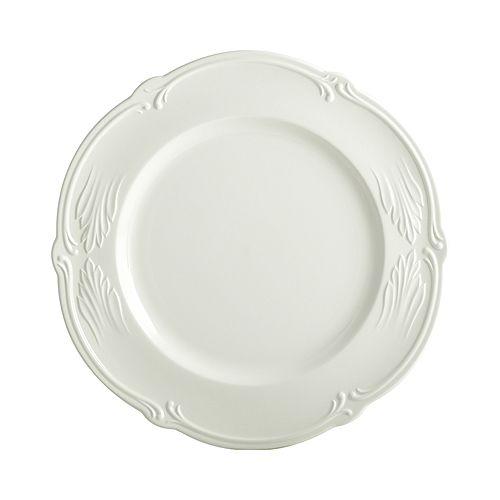 Gien France - Rocaille White Dinner Plate