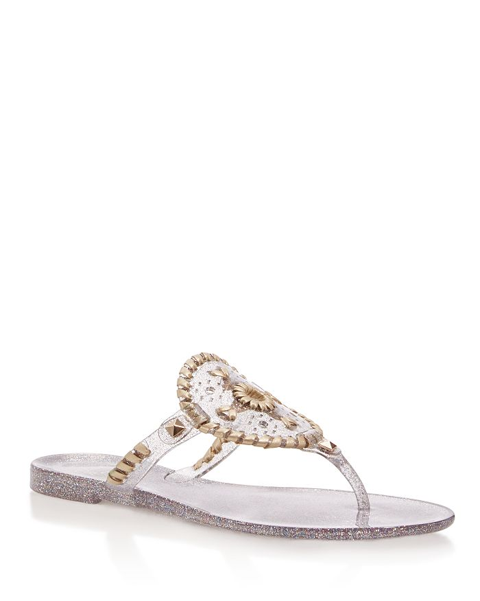 74591fc15 Jack Rogers - Sparkle Georgica Jelly Thong Sandals
