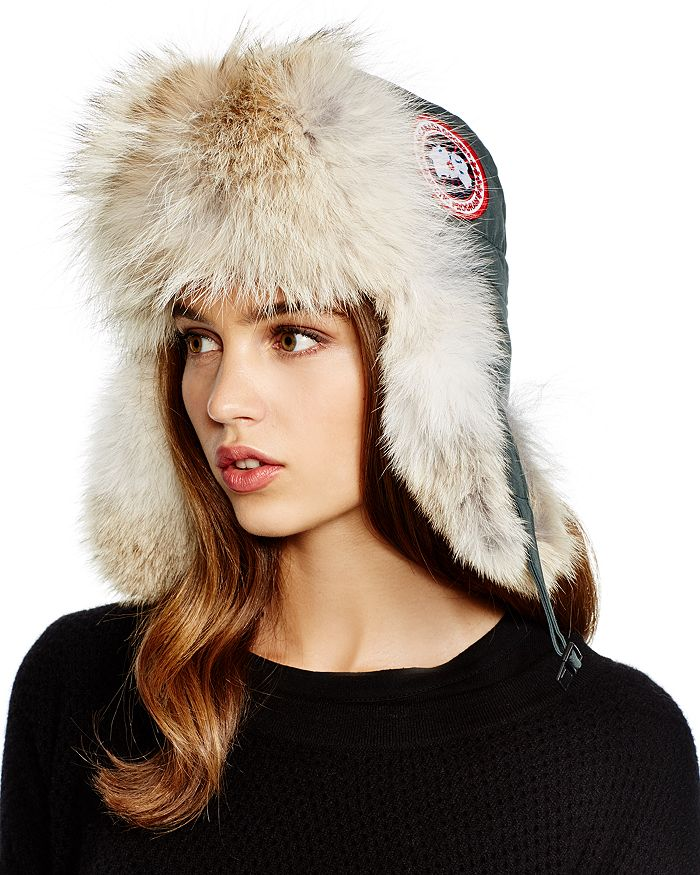 2f7440460df3a3 Canada Goose Coyote Fur Aviator Hat | Bloomingdale's