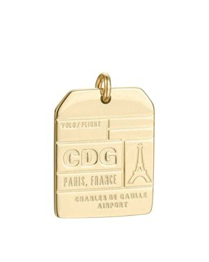 JET SET CANDY CDG PARIS LUGGAGE TAG CHARM
