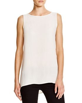 Eileen Fisher Petites - High/Low Silk Tank