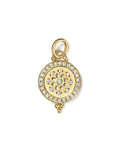 Temple St. Clair 18K Gold Halo Mandala Cutout Pendant with Pavé Diamonds - Bloomingdale's_0