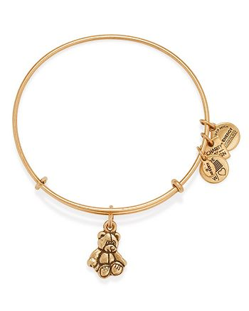 Alex and Ani - Little Brown Bear Expandable Wire Bangle, Charity by Design Collection - 100% Exclusive