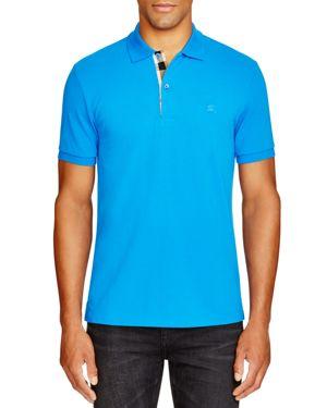 Burberry Core Short-Sleeve Pique Polo Shirt, Bright Opal
