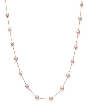 """Bloomingdale's - Cultured Pink Freshwater Pearl Necklace in 14K Rose Gold, 17""""- 100% Exclusive"""