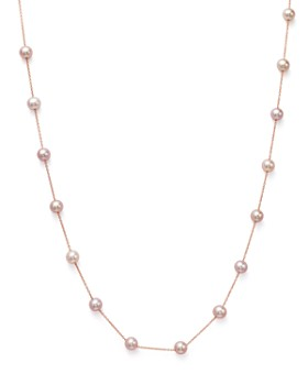"Bloomingdale's - Cultured Pink Freshwater Pearl Necklace in 14K Rose Gold, 17"" - 100% Exclusive"