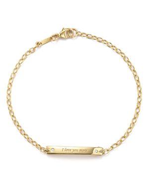 Monica Rich Kosann 18K Yellow Gold I Love You More Posey Bracelet with Diamond Accents