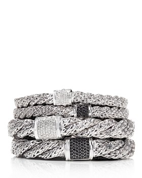JOHN HARDY - Classic Chain Sterling Silver Flat Twisted Chain Bracelet