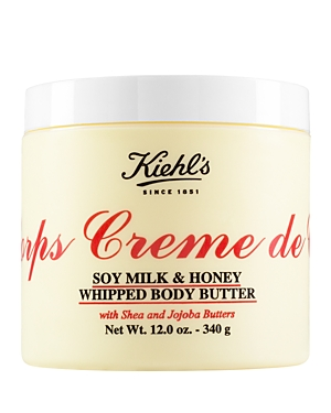 Kiehl's Since 1851 Creme de Corps Soy Milk & Honey Whipped Body Butter 12 oz.