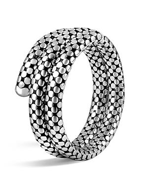 John Hardy Sterling Silver Dot Double Coil Bracelet
